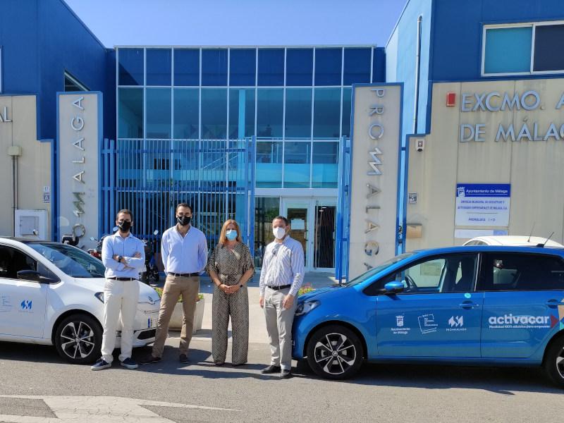 Promálaga ofrece a las empresas incubadas coche eléctrico gratuito, gestionado a través de Activacar