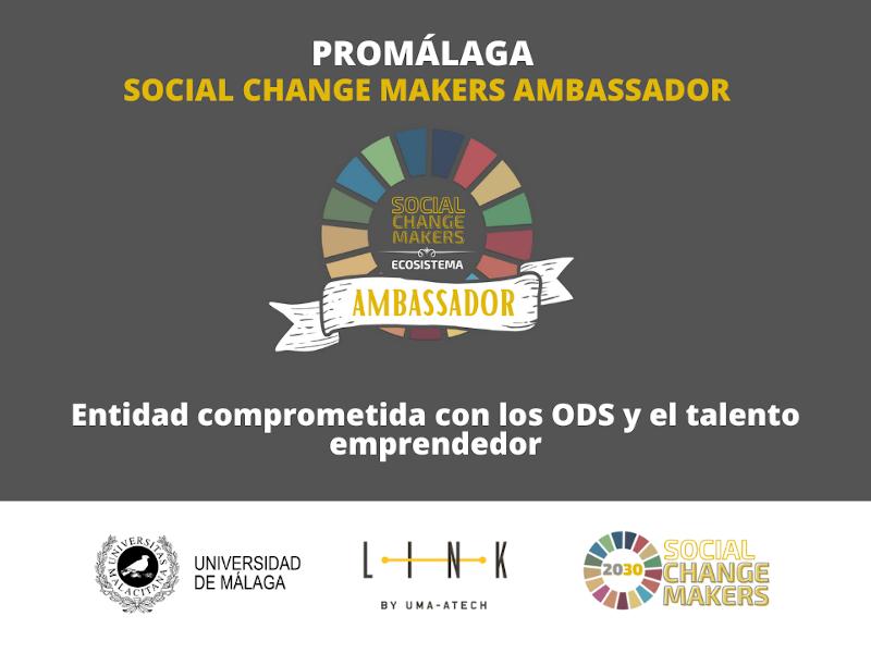 Promálaga, reconocida como entidad 'ambassador' del programa Social Change Makers de la Universidad de Málaga