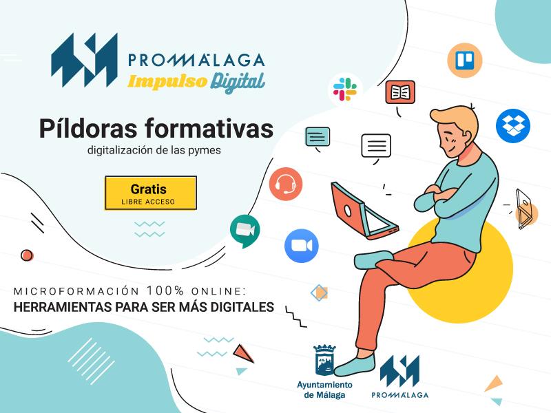 Promálaga ofrece píldoras formativas online para ayudar a las empresas malagueñas a mejorar su digitalización