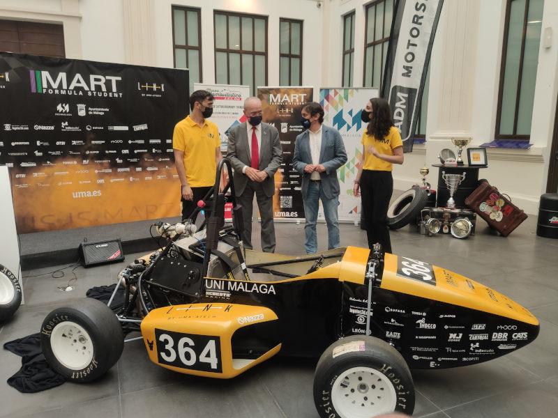 Un coche de competición, construido por un grupo de estudiantes de la UMA, participará en el Campeonato Internacional Fórmula Student